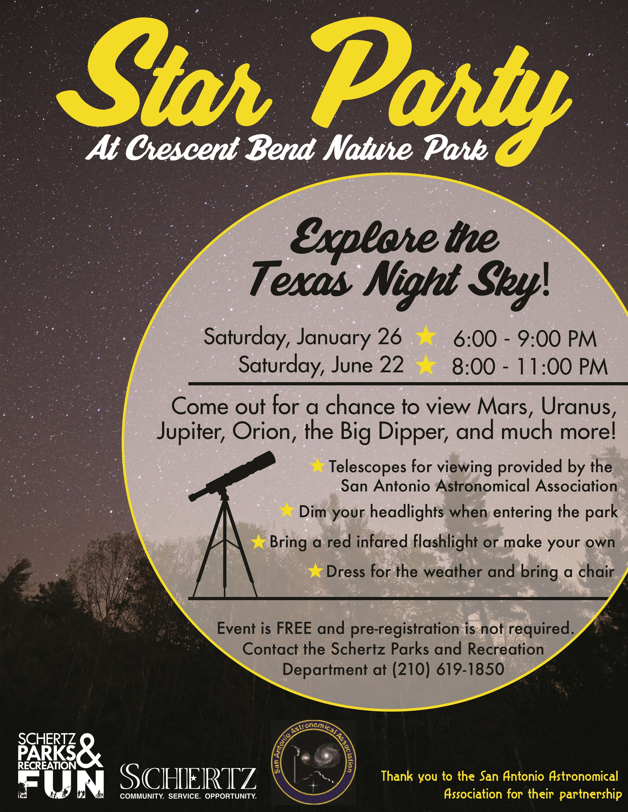 Star Parties Flyer 2019