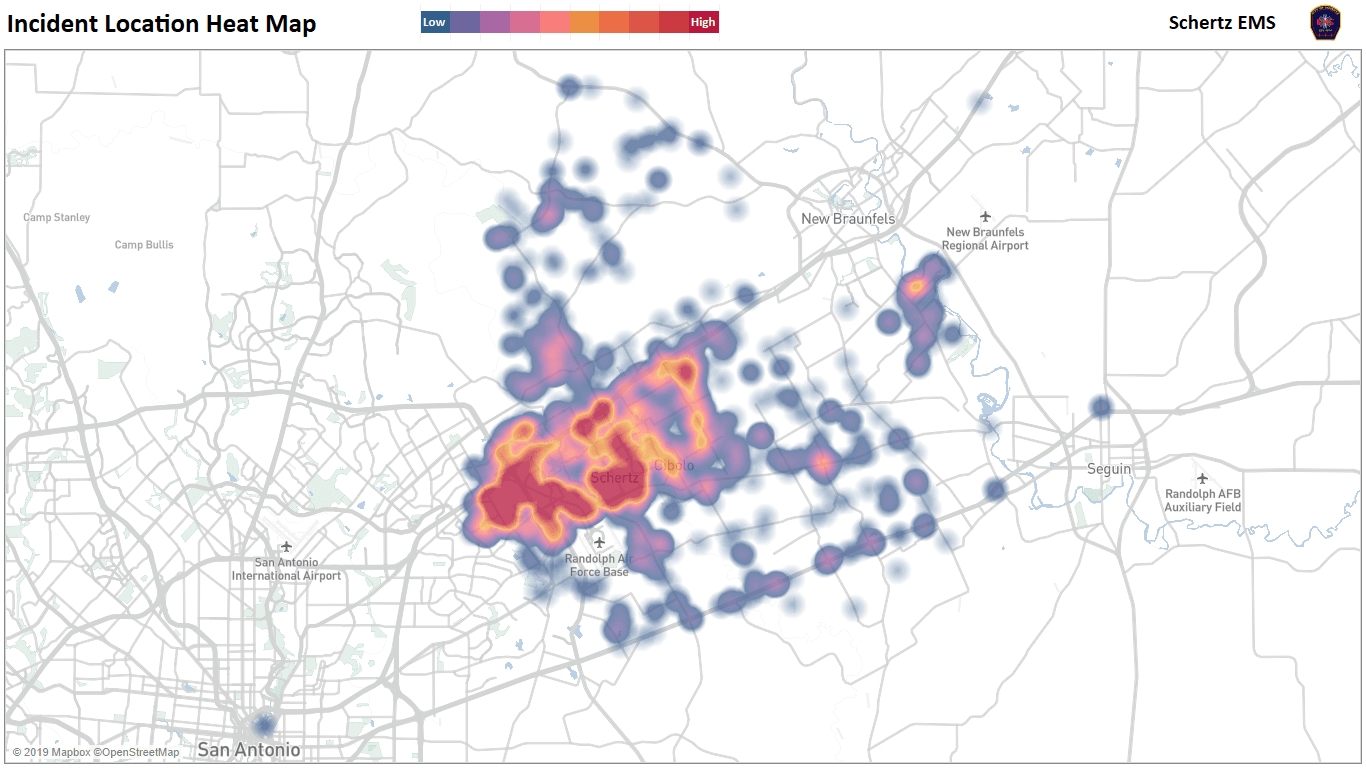 Incident Location Heat Map