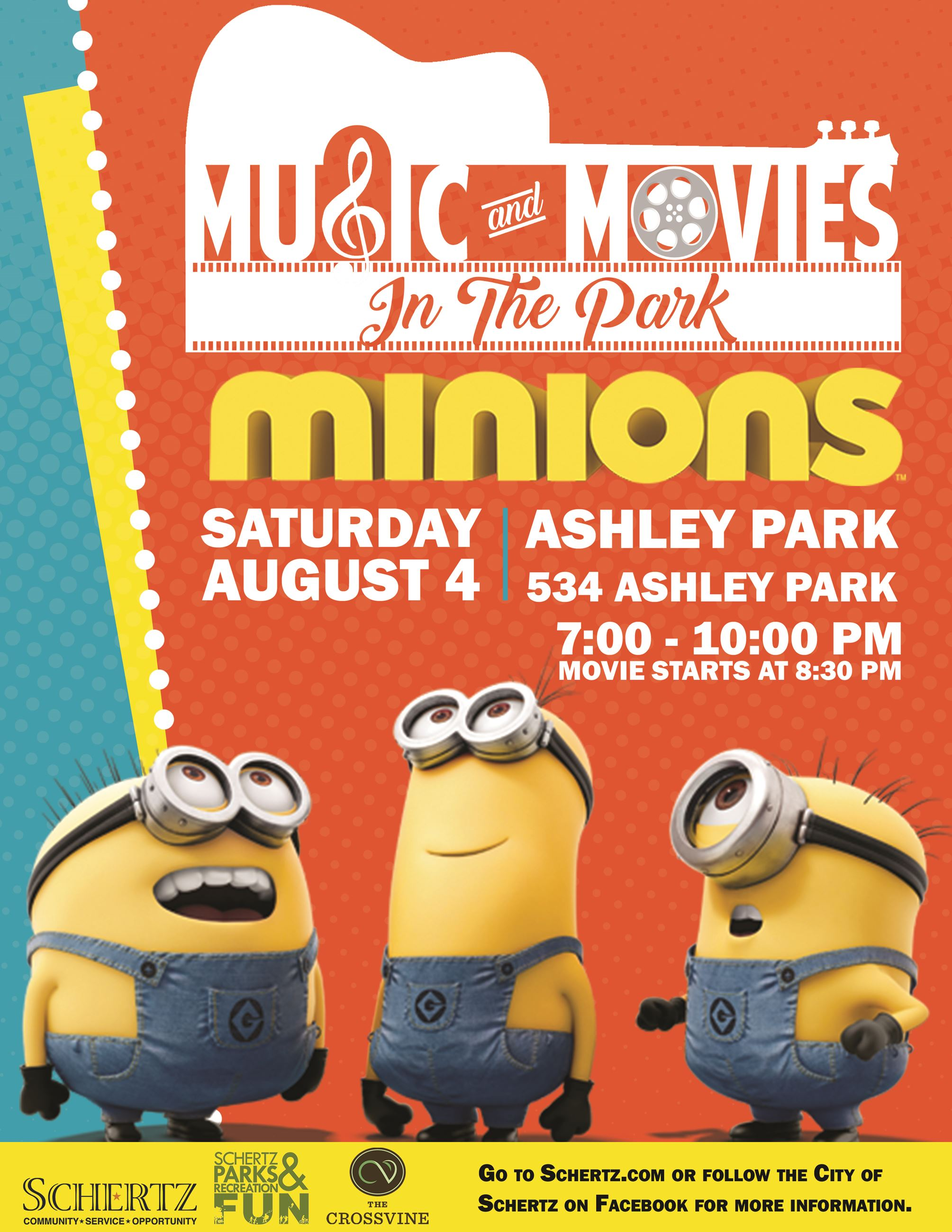 Minions Movie in the Park Flyer