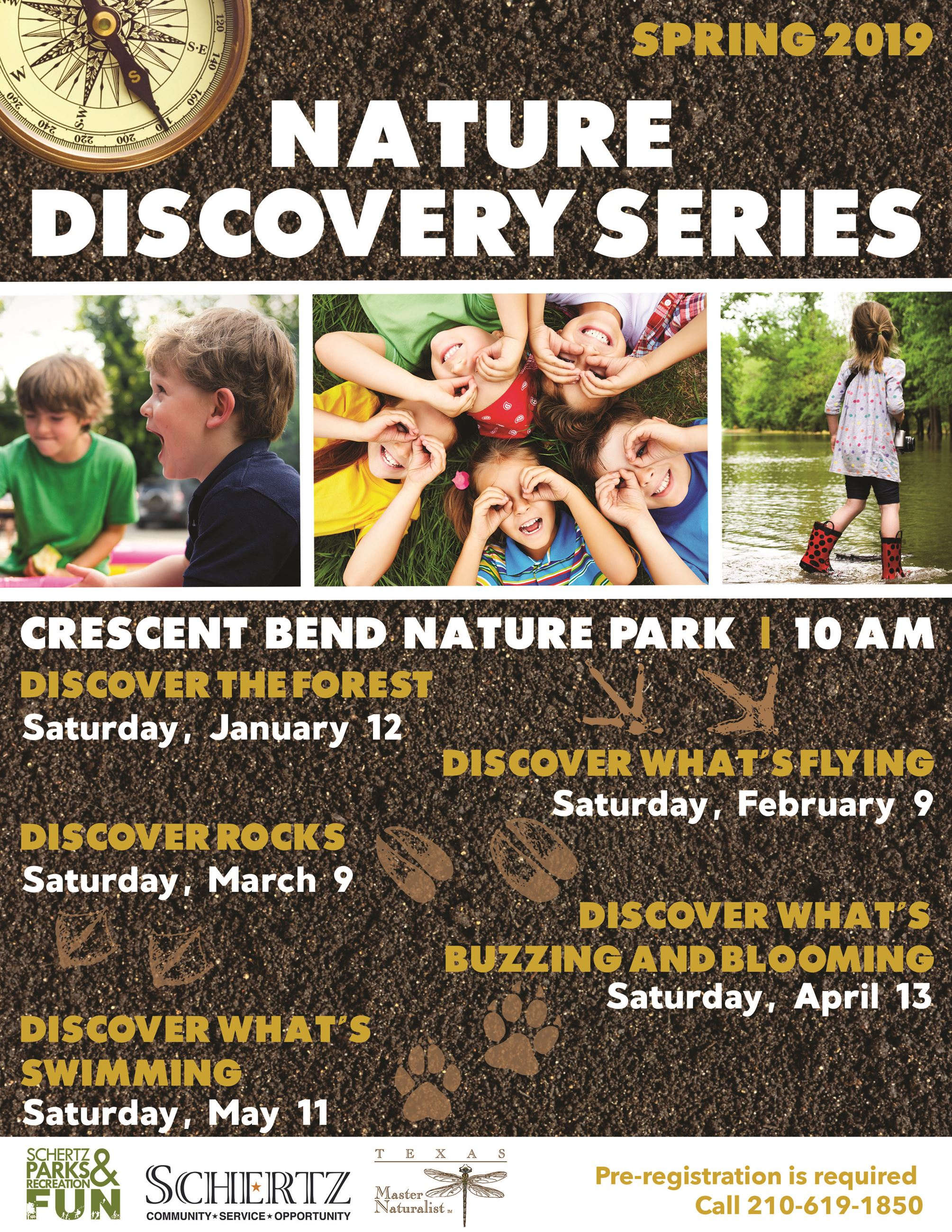 Nature Discovery Series Flyer Spring 2019