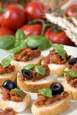 Bruschetta and Tomatoes
