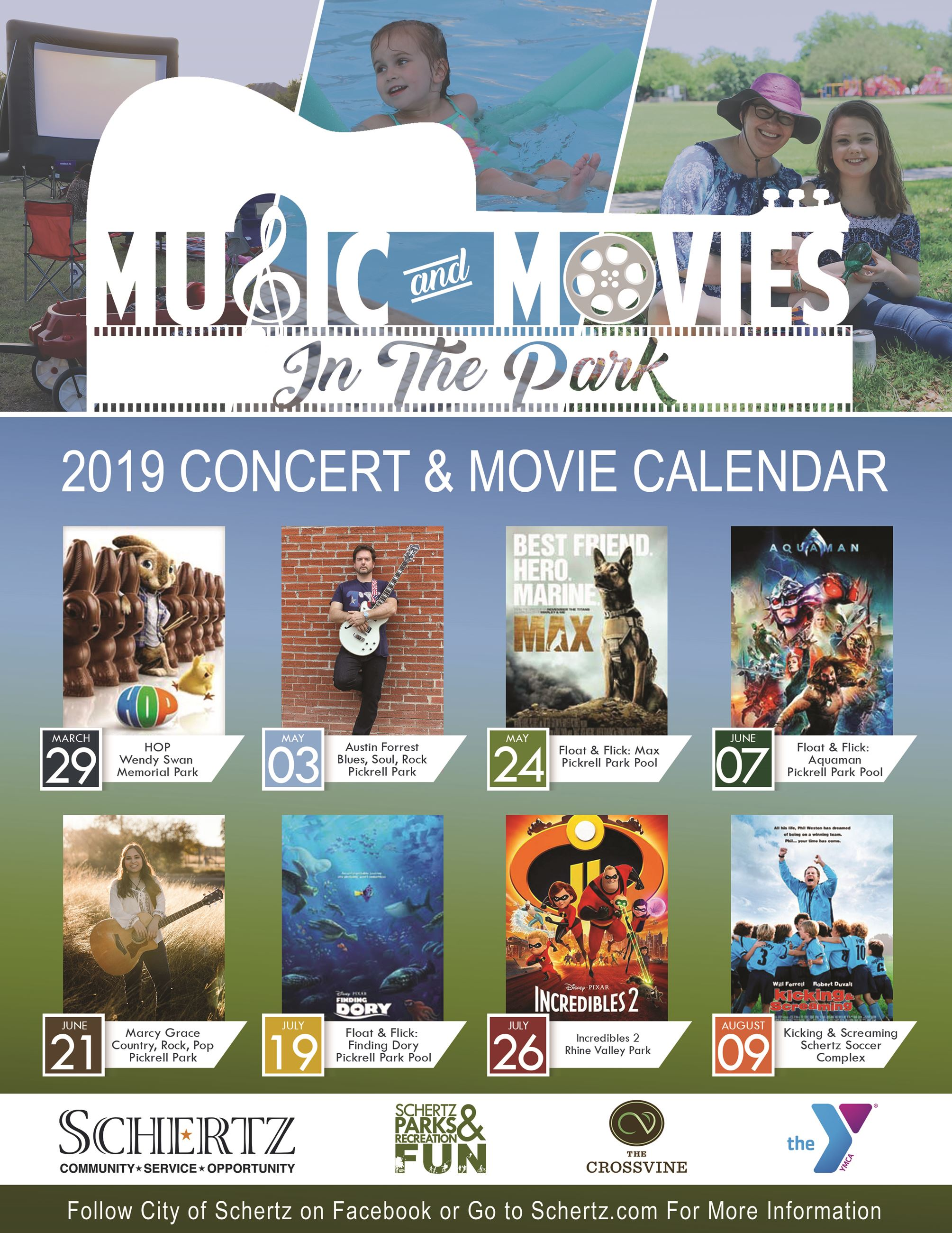 Master Music and Movies Calendar 2019 Opens in new window
