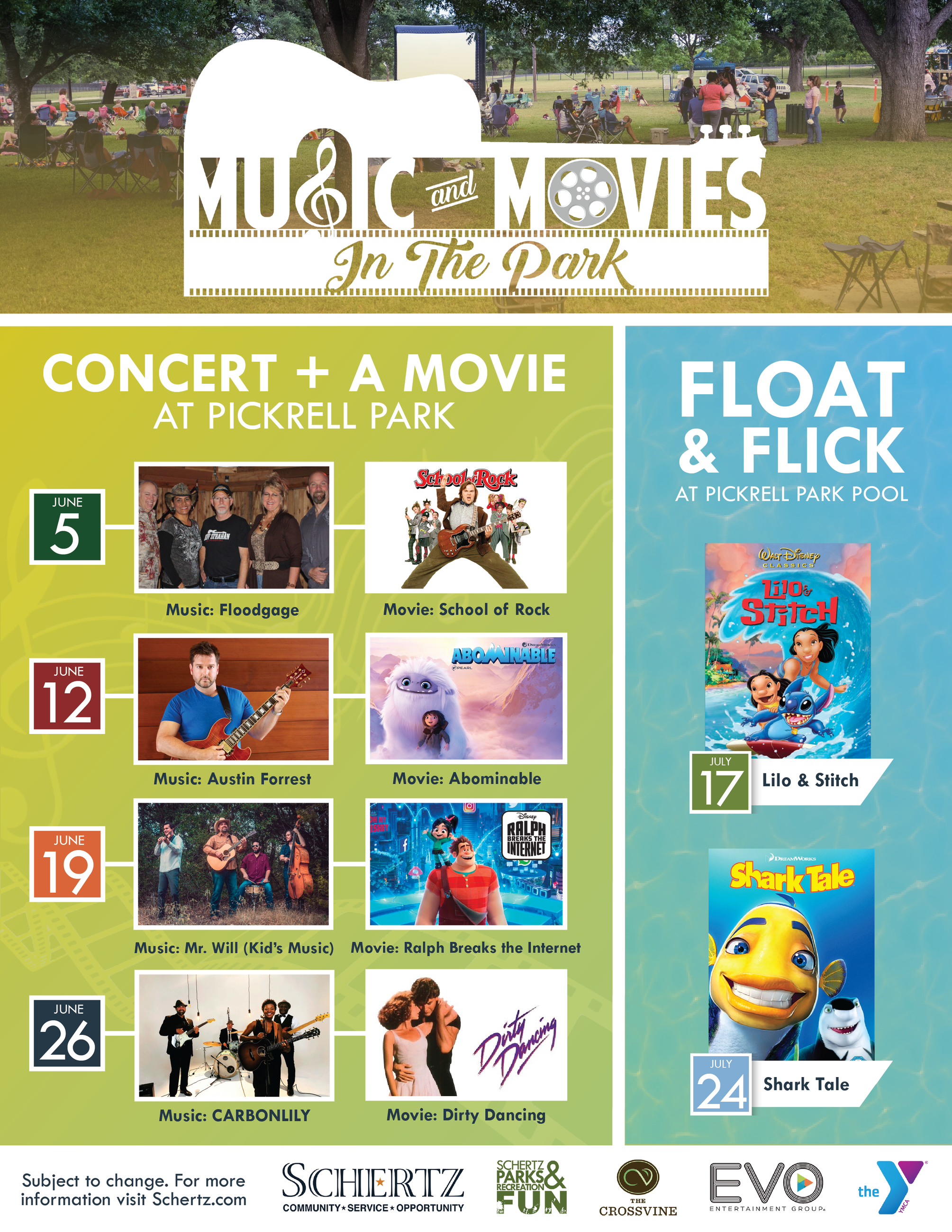 Master Music and Movies Calendar 2021