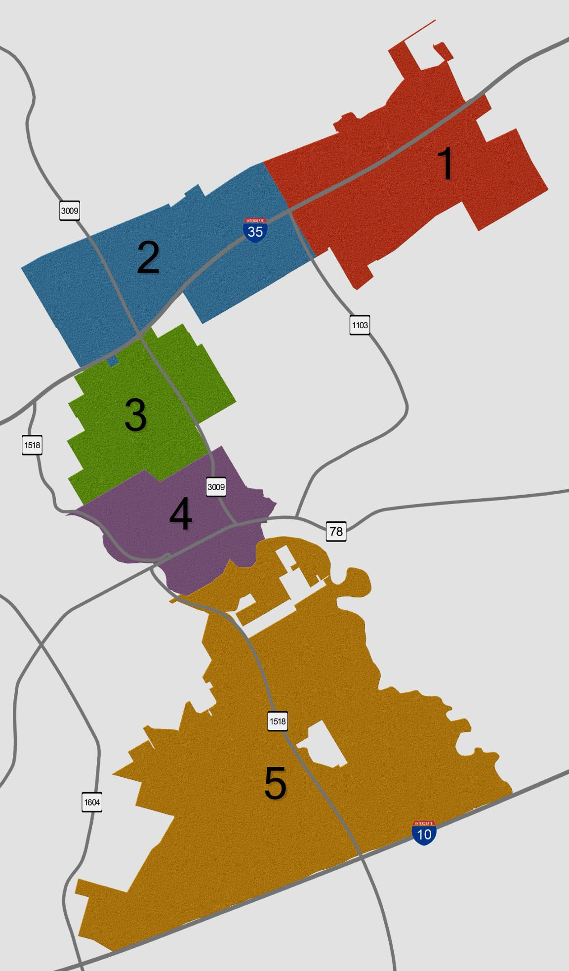 Schertz Police District Map