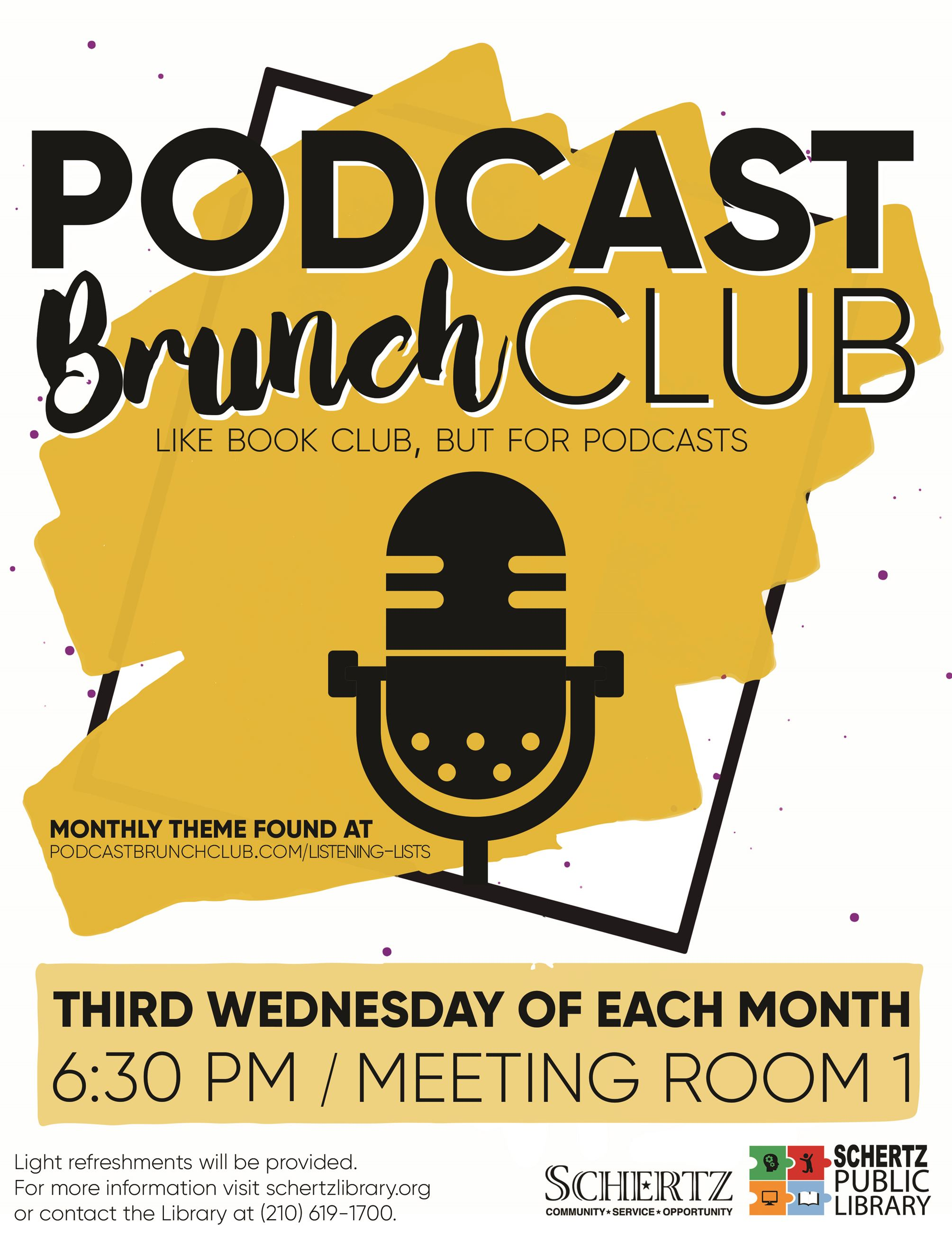 Podcast Brunch Club Flyer
