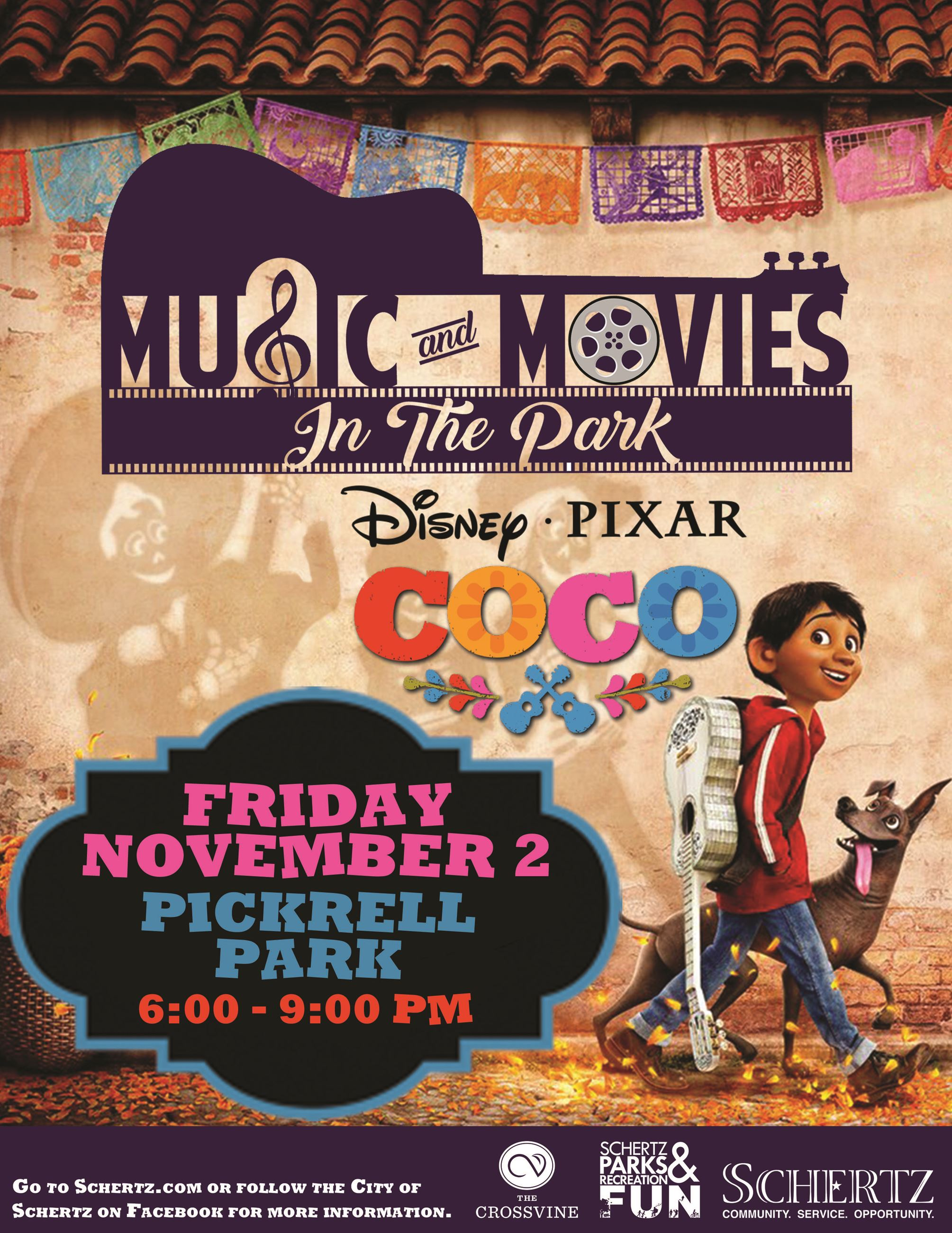 Coco Movie in the Park Flyer