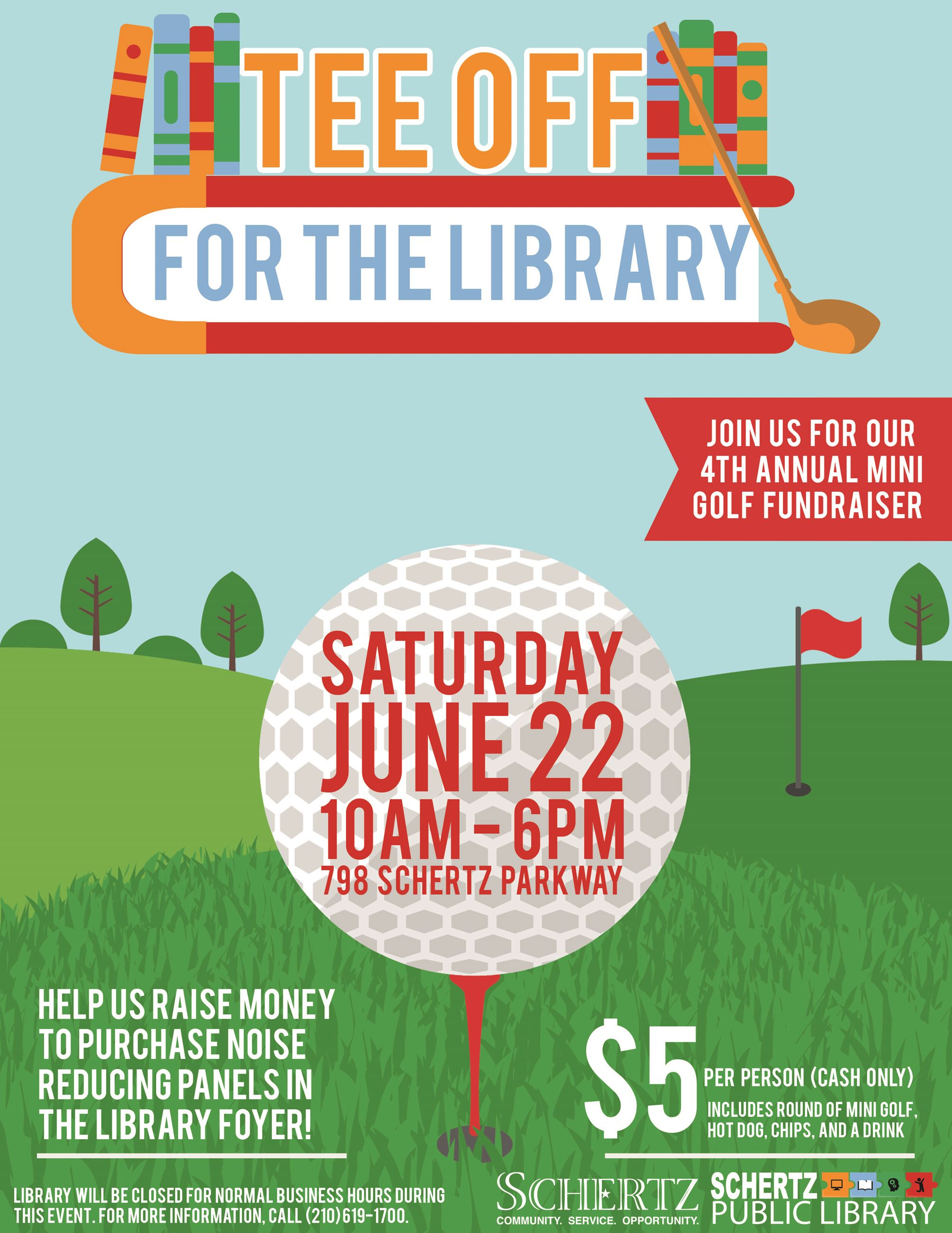 Tee Off for the Library Flyer 2019